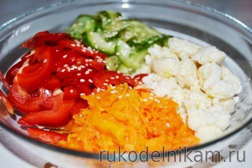 сырой салат яркая витаминка